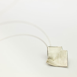 'Lines in Motion' Silver Pendant
