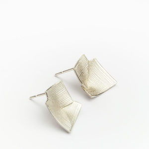 'Lines in Motion' Silver Stud Earrings