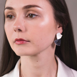 'Lines in Motion' Drop Earrings (Black)
