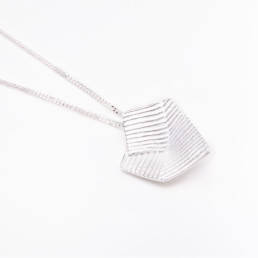 'Lines in Motion' Silver Pendant, Large
