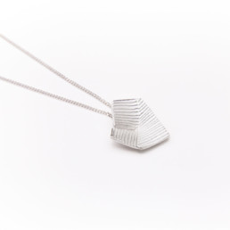 'Lines in Motion' Silver Pendant, Small