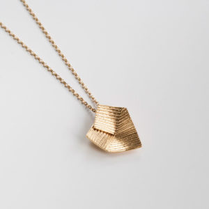 'Lines in Motion' Gold Pendant Large