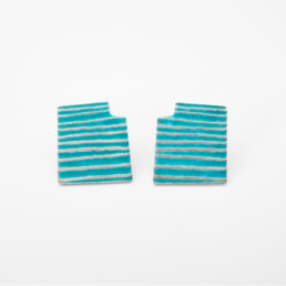 'Lines in Motion' Turquoise Stud Earrings