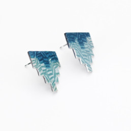 'Weave' Two Tone Earrings