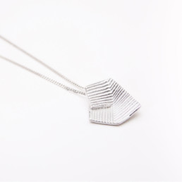 'Lines in Motion' Silver Pendant, Medium