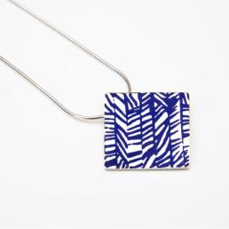 'Weave' Blue Square Pendant