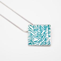 'Weave' Turquoise Square Pendant