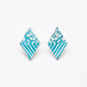 'Weave' Turquoise Stud Earrings