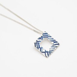 'Weave' Blue-Grey Pendant