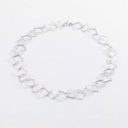 'Weave' Square Chain Necklace