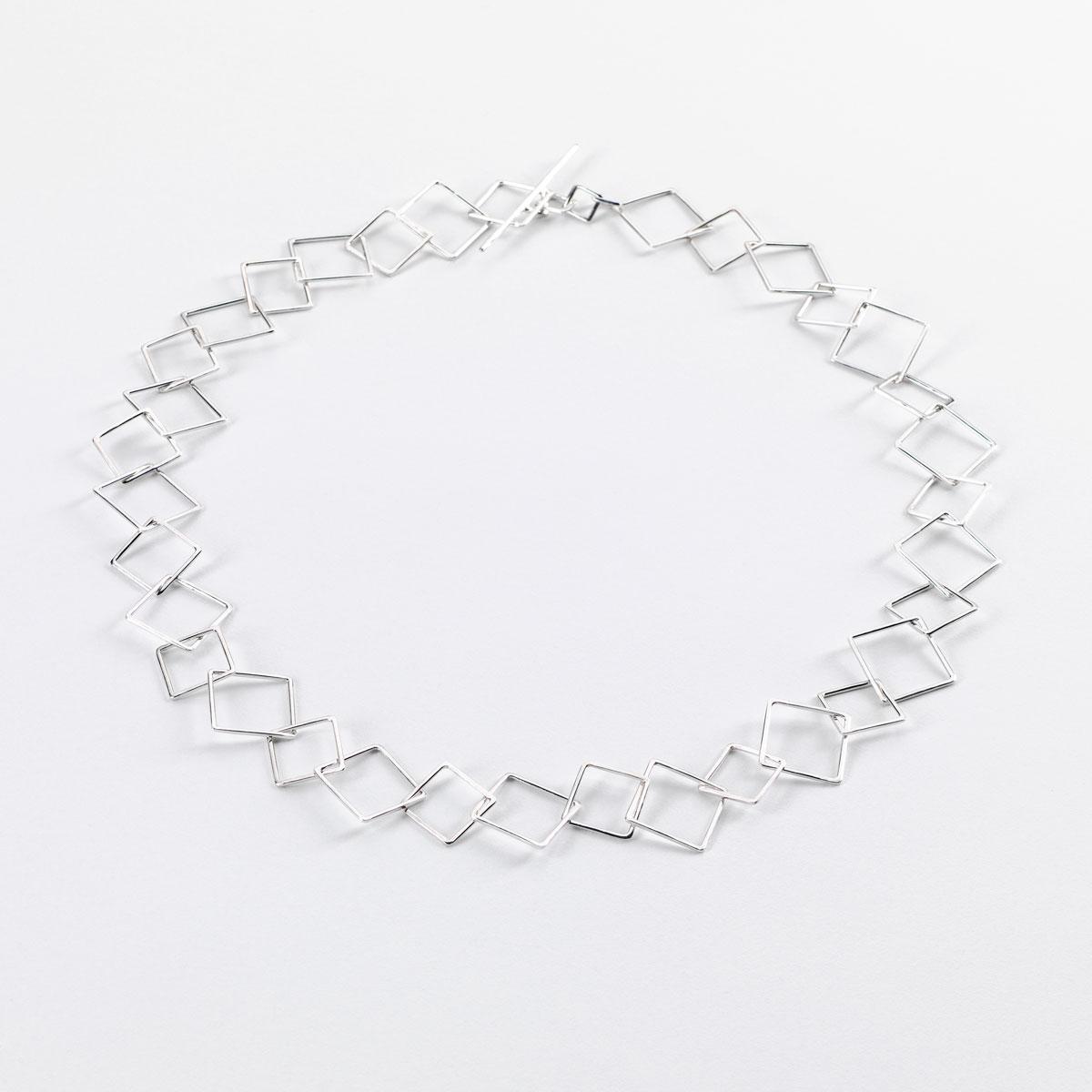 'Weave' Square Chain Necklace