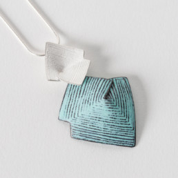 'Lines in Motion' Turquoise Pendant