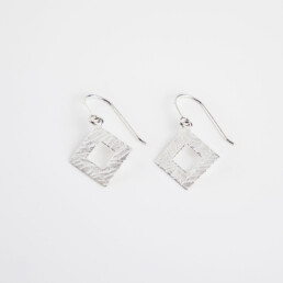 'Weave' Silver Hook Earrings