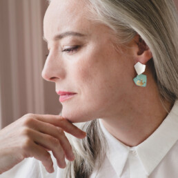'Currents of Venice' Turquoise and Gold Drop Earrings