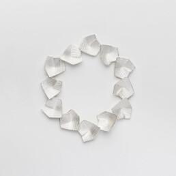 'Lines in Motion' Silver Bracelet