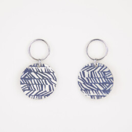 'Weave' Blue-Grey Circular Earrings