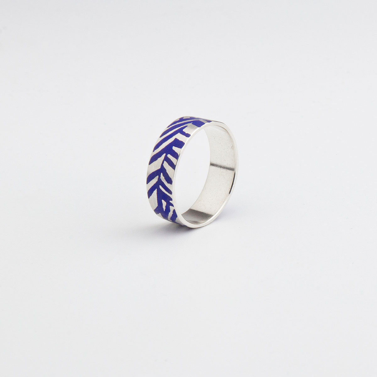 'Weave' Blue and Silver Ring