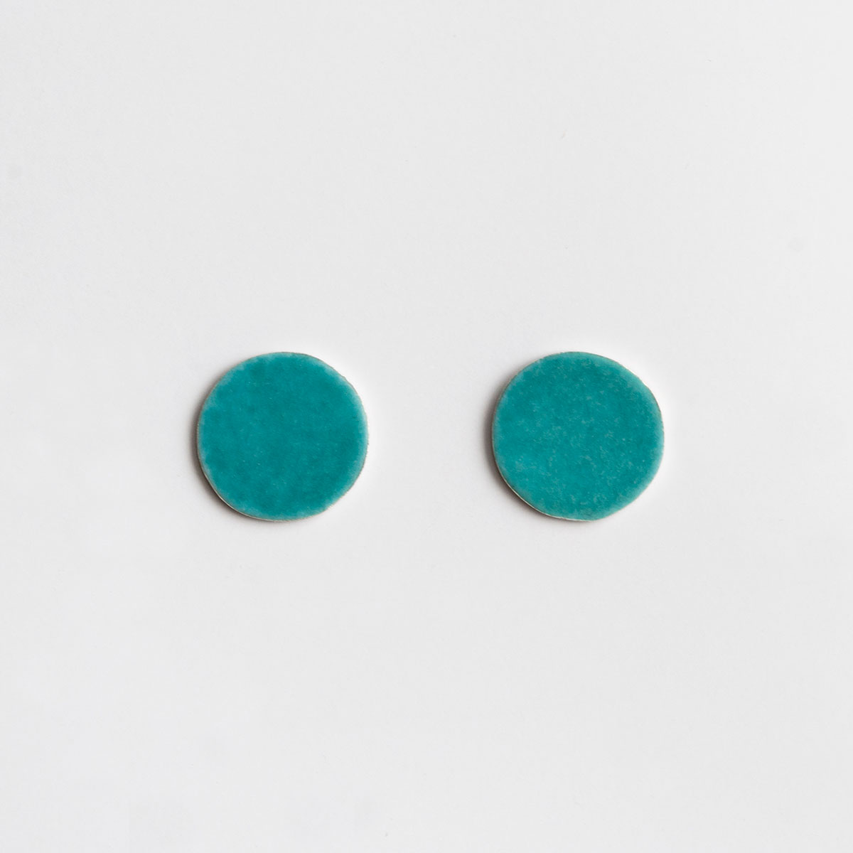 'Weave' Turquoise Dot Stud Earrings, Medium