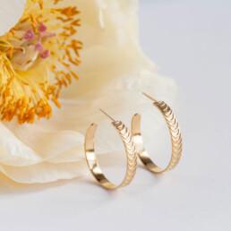 'Finesse' Gold Hoop Earrings, Large