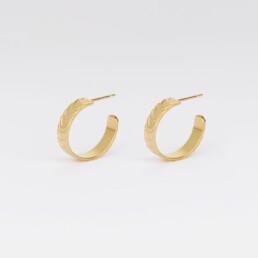 'Finesse' Gold Hoop Earrings, Small