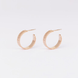'Finesse' Rose Gold Hoop Earrings, Small