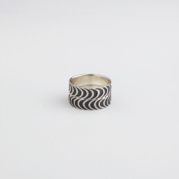 'Finesse' Silver and Black Ring