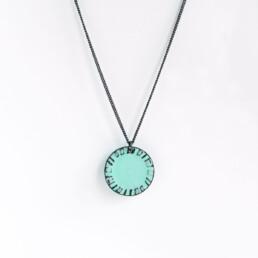 'Weave' Turquoise Circular Pendant